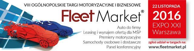 Samochody użytkowe i osobowe dla MŚP. Targi motoryzacyjne i biznesowe Fleet Market 2016.