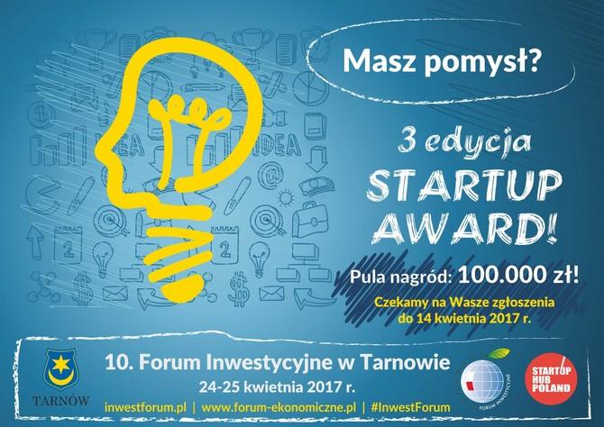 Masz ciekawy pomysł? Poszukujesz kapitału na jego realizację? Konkurs Startup Award jest właśnie dla Ciebie!